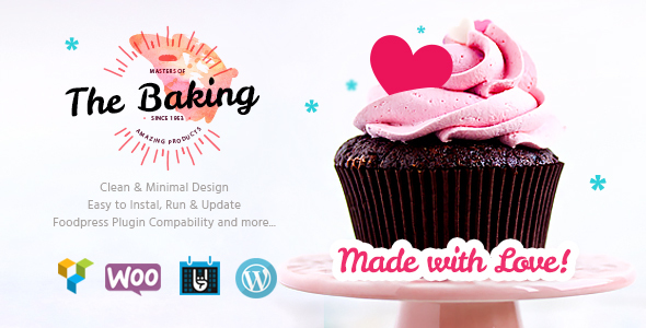 Bakery / Cake Shop / Cafe WordPress Theme - Food Retail