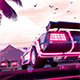 Synthwave Flyer v2 - Neon Dreams Retrowave Poster Template - GraphicRiver Item for Sale