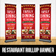 Restaurant Rollup Banner - GraphicRiver Item for Sale