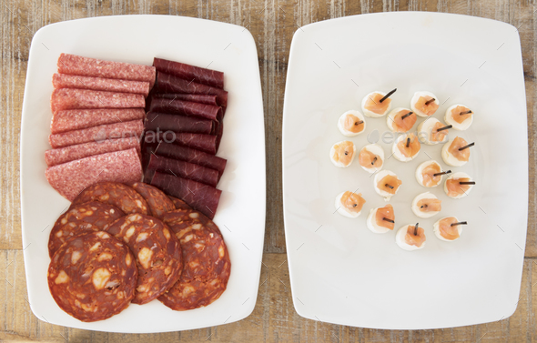 Meat Party Appetizers - Stock Photo - Images