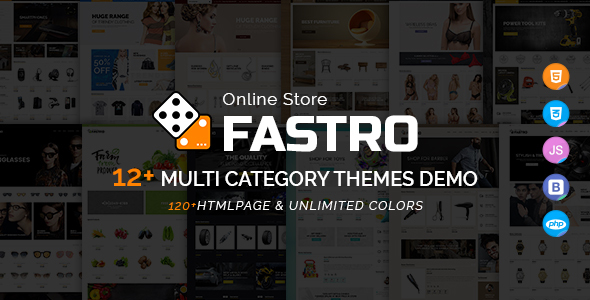 Fastro - E-Commerce Bootstrap Responsive Template - Retail Site Templates