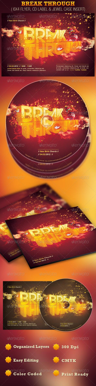Break Through Church Flyer and CD Template - Church Flyers