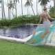 Young Woman in Bikini Going to Swimming in Bali. Indonesia - VideoHive Item for Sale