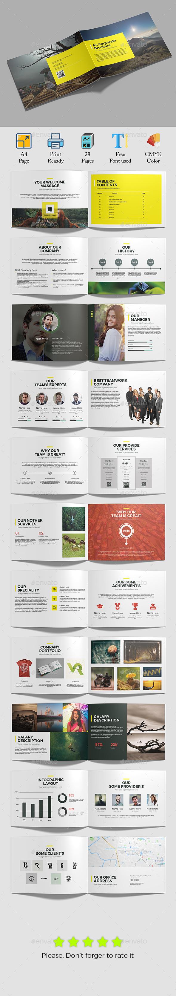 GraphicRiver A4 Corporate Brochure 21175003