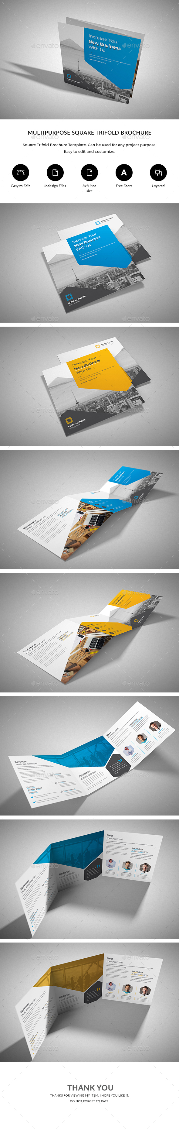 GraphicRiver Square Trifold 21175279