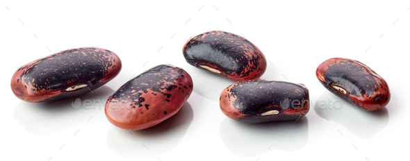colorful beans on white background - Stock Photo - Images