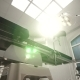 Operating Emergency Room Surgery Theater Lighting in Hospital Background
