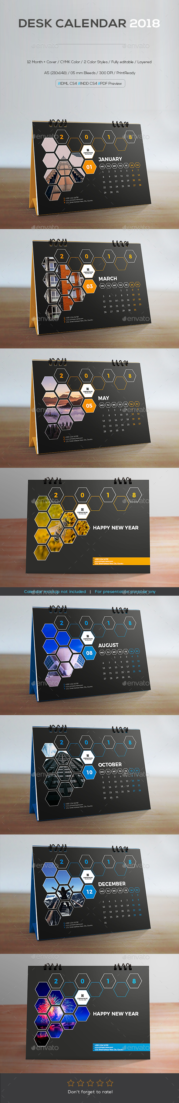 GraphicRiver Desk Calendar 2018 21175614