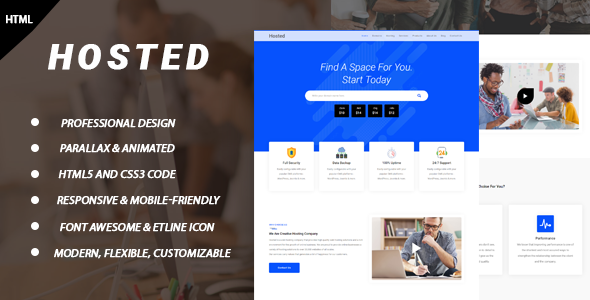 Hosted - Hosting HTML Template