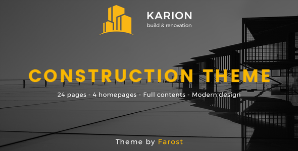 Karion - Construction & Building WordPress Theme - Business Corporate