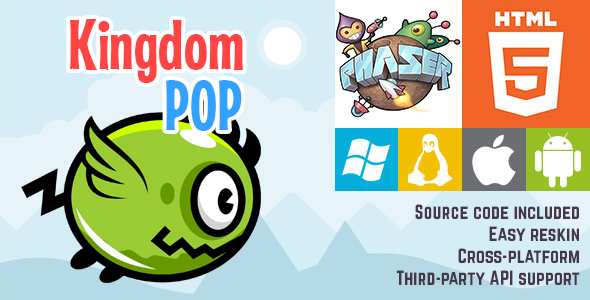 Kingdom Pop - HTML5 Game - Phaser - CodeCanyon Item for Sale