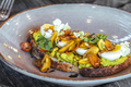Avocado toast with cherry tomatoes and eggs - PhotoDune Item for Sale