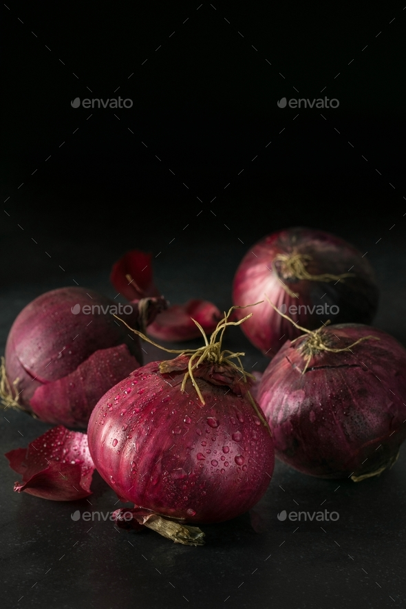 Fresh Red Onions - Stock Photo - Images