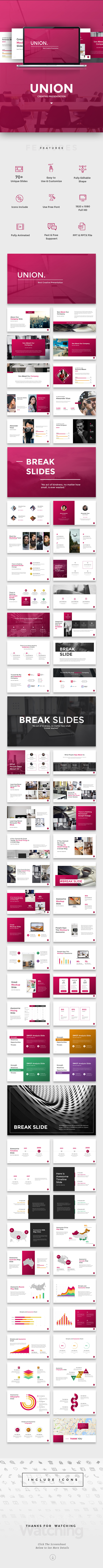 GraphicRiver Union Creative Google Slides 21176112