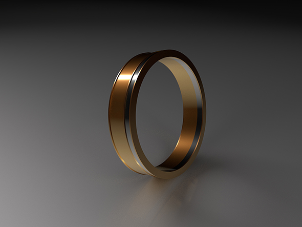 Gold Ring - 3DOcean Item for Sale