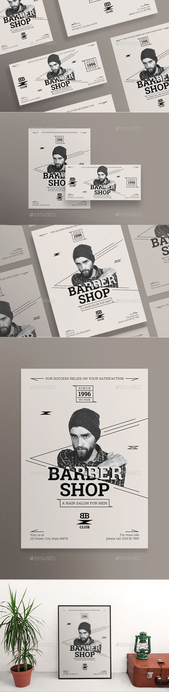 GraphicRiver Barber Shop Flyers 21176134