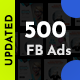 Facebook Ad Banners - 500 Files - UPDATED! - GraphicRiver Item for Sale