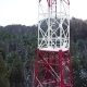 Cellular Tower in the Winter Forest in the Mountains. Aerial View - VideoHive Item for Sale