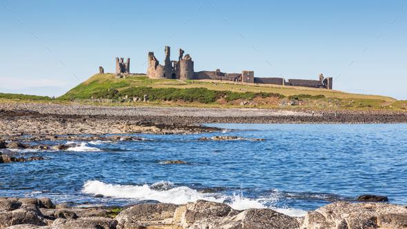 Dunstanburgh Castle - Stock Photo - Images