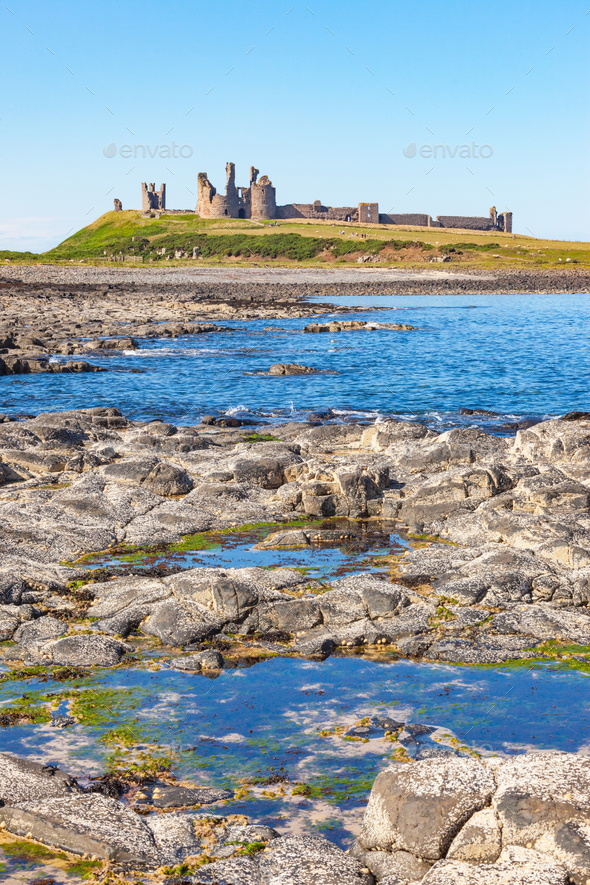 Dunstanburgh Castle - Stock Photo - Images
