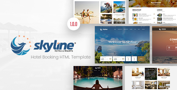 Image of SkyLine - Hotel Booking HTML Template
