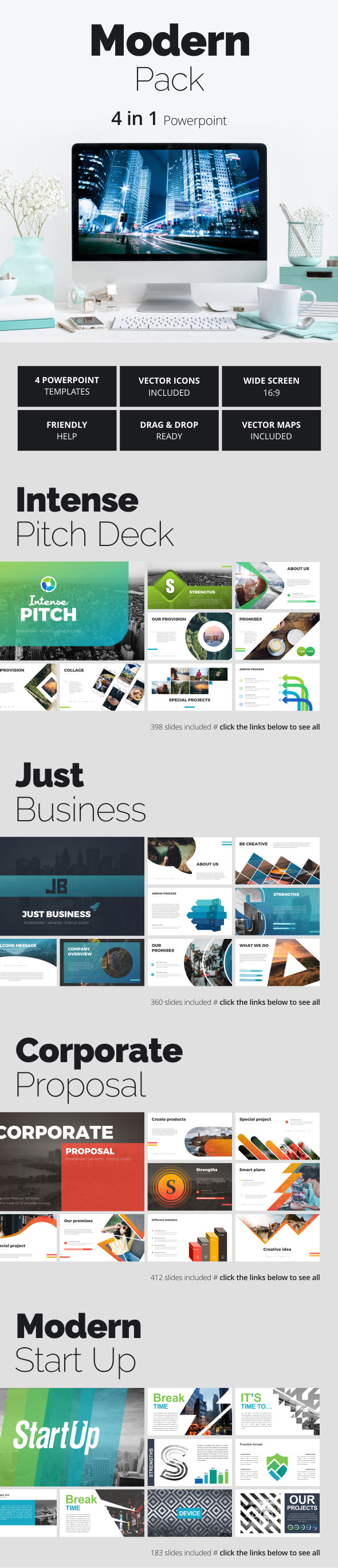 Modern Pack - Business PowerPoint Templates