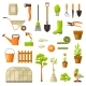 Set of Garden Tools and Items