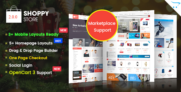 ShoppyStore - Responsive Multipurpose Marketplace OpenCart 3 and 2.x Theme