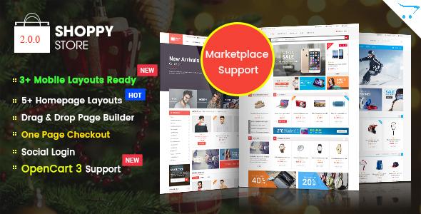 ShoppyStore - Responsive Multipurpose Marketplace OpenCart 3 and 2.x Theme - Shopping OpenCart