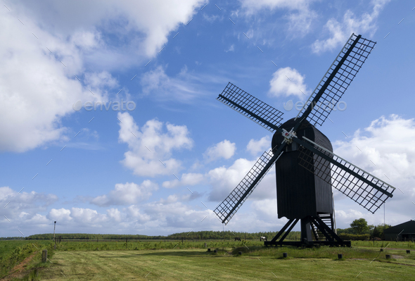 Standerd mill Ter Haar - Stock Photo - Images