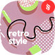 Seamless Retro Style of Geometric Shapes Patterns / Backgrounds
