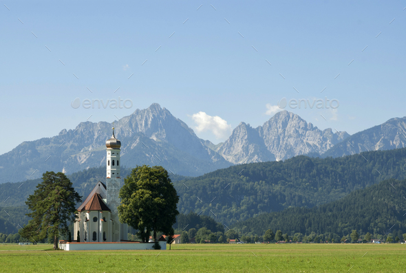 Saint Coloman church - Stock Photo - Images