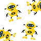 Kid Robot Pattern Background - GraphicRiver Item for Sale