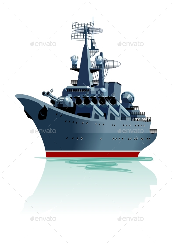 GraphicRiver Cartoon Battleship 21176824