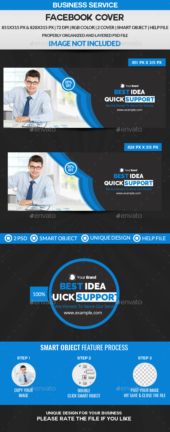 GraphicRiver Business Service Facebook Cover 21176995