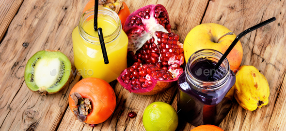 Fresh juices cocktail - Stock Photo - Images