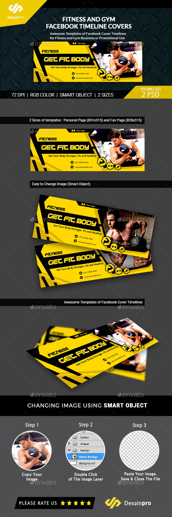 GraphicRiver Fitness and Gym FB Timeline Covers AR 21177079