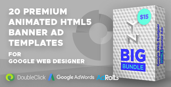CodeCanyon YN Big Bundle GWD Google Web Designer Animated HTML5 Banner Ad Bundle 21177145