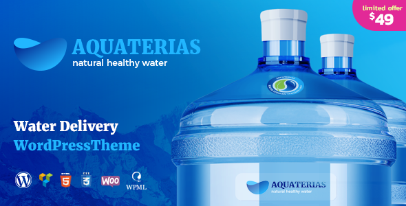 Aquaterias - Drinking Mineral Water Delivery WordPress Theme - Food Retail