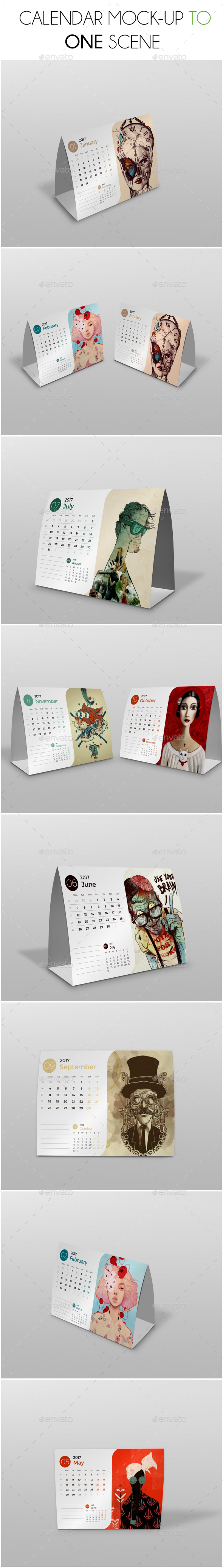 GraphicRiver Calendar Mockup Scene 21177246
