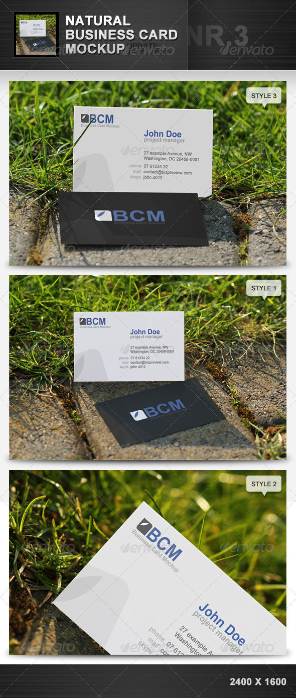 natural business card mockup 3 by h3design graphicriver