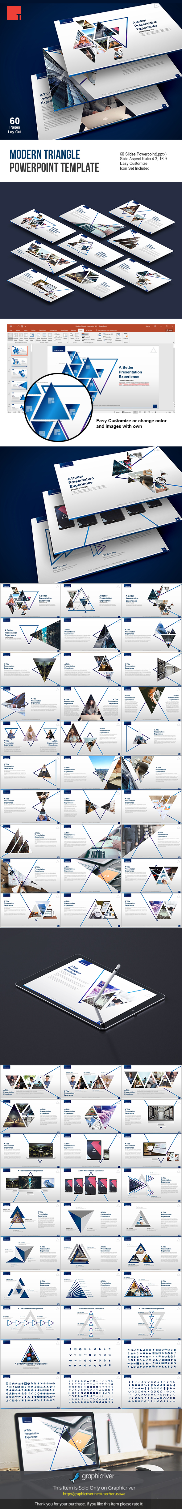 Modern Triangle Powerpoint Template by terusawa | GraphicRiver