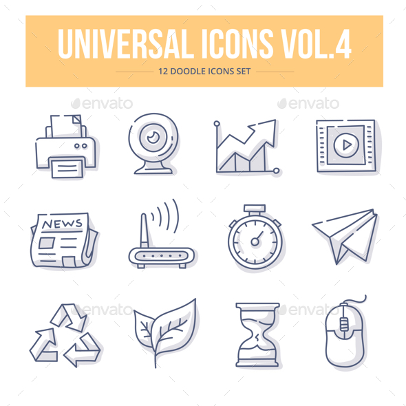 Universal Doodle Icons vol.4 - Icons