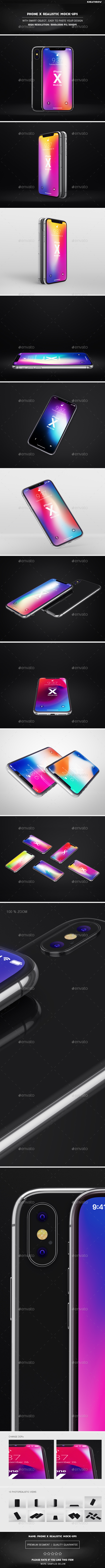 GraphicRiver Phone X Realistic Mock-Ups 21177510