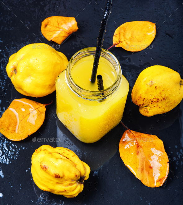 juice with quince - Stock Photo - Images