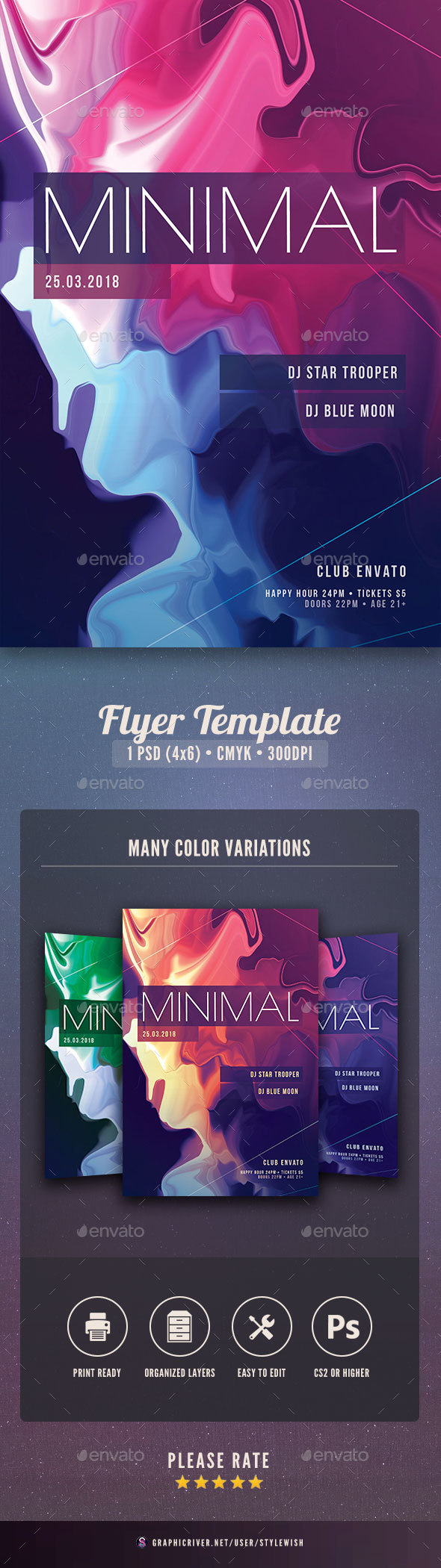 GraphicRiver Minimal Flyer Template 21177734