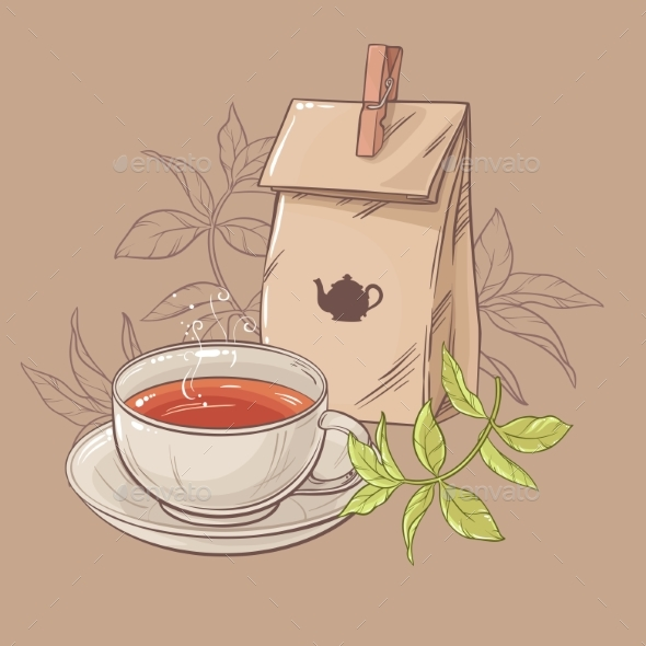 GraphicRiver Cup of Tea and Paper Packaging 21177778