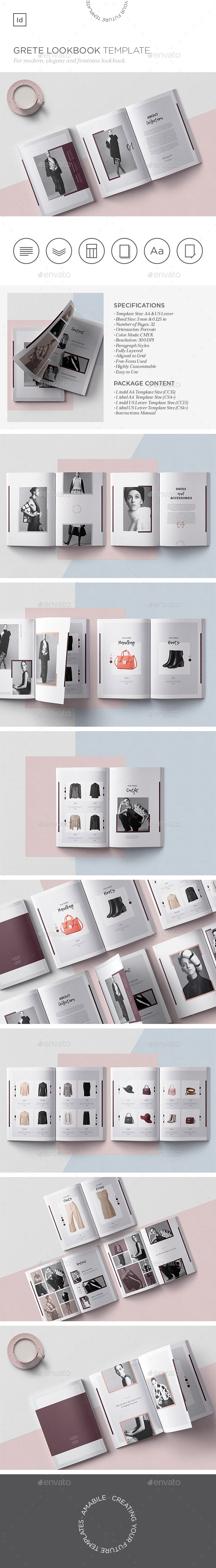 GraphicRiver Grete Lookbook Template 21177803