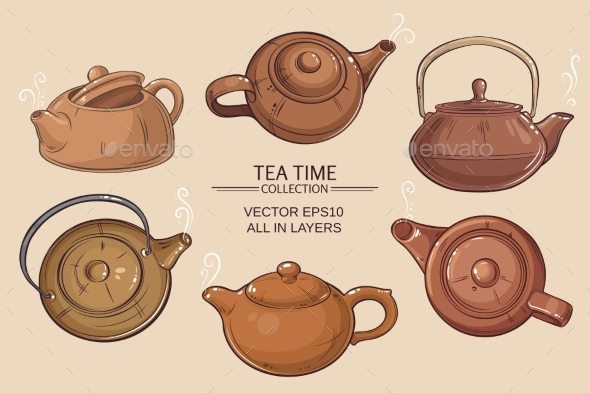 GraphicRiver Teapots Set 21177843