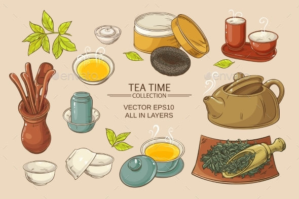 GraphicRiver Tea Ceremony Set 21177857